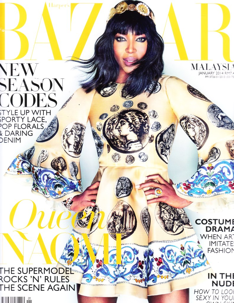 January2014 Cover- The legendary Naomi Campbell