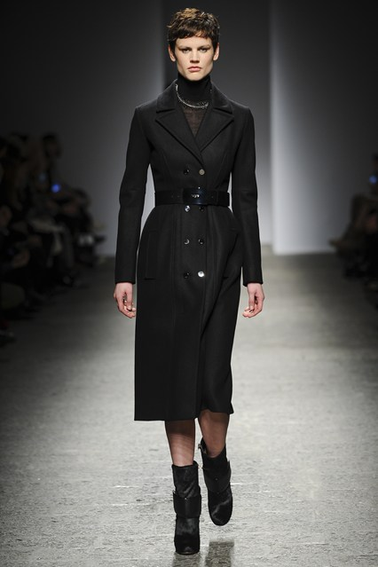 Ports 1961 FW14 show opened with a 3/4 trench coat.
