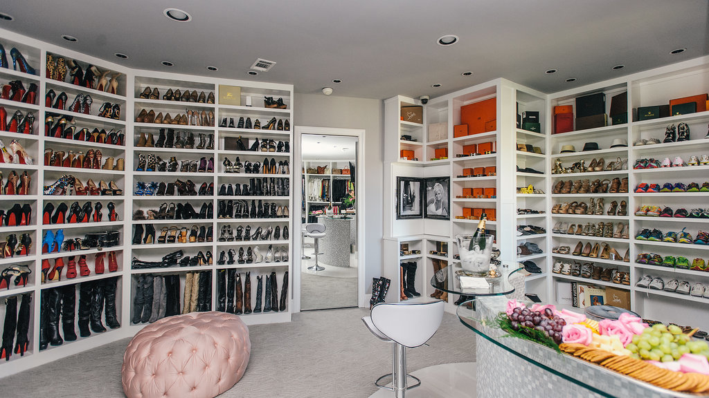 One of the three level of closet.