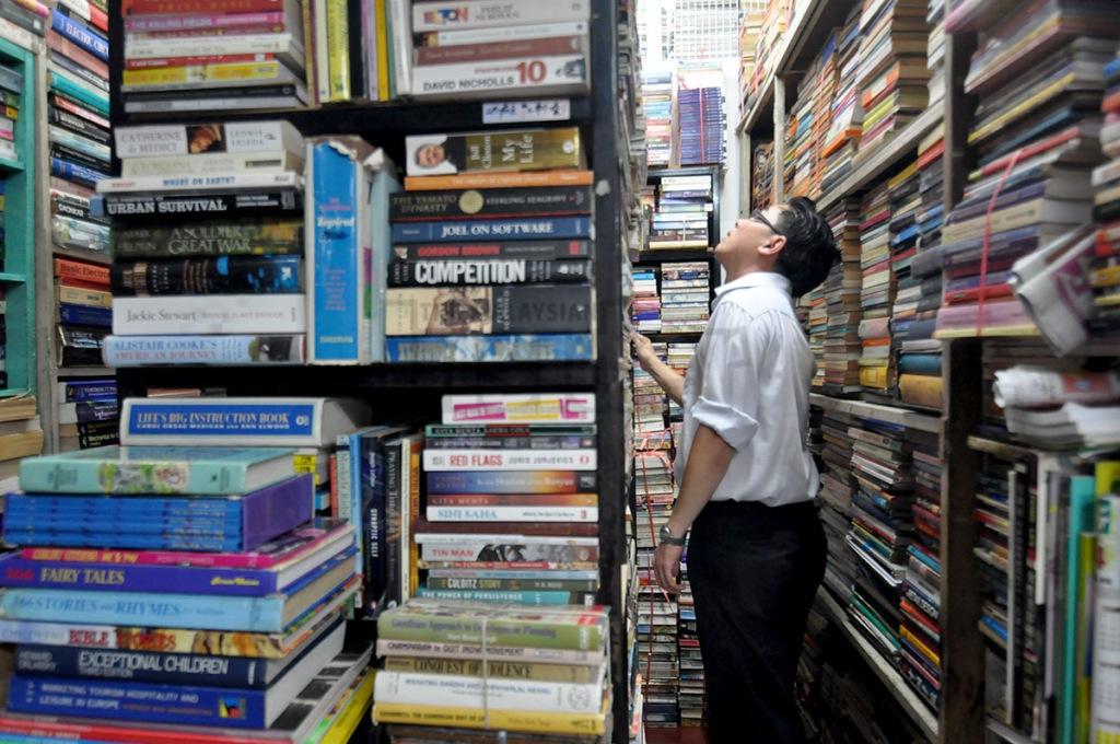 Used book store @ Chowrasta Bazaar