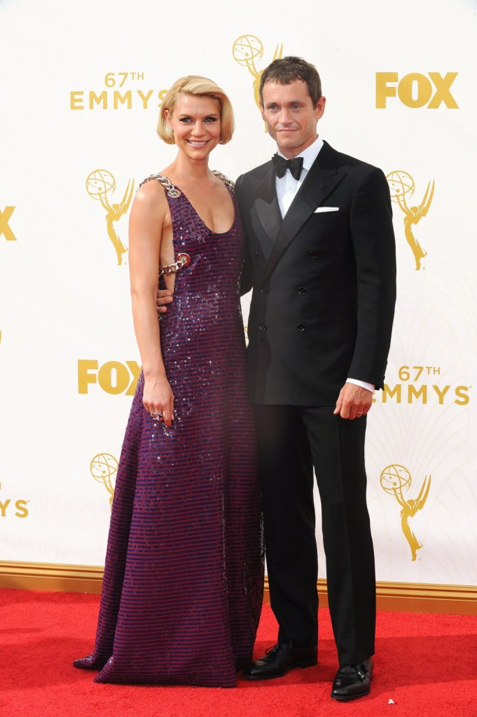 Claire Danes in Prada with Hugh Dancy in Ralph Lauren Black Label.